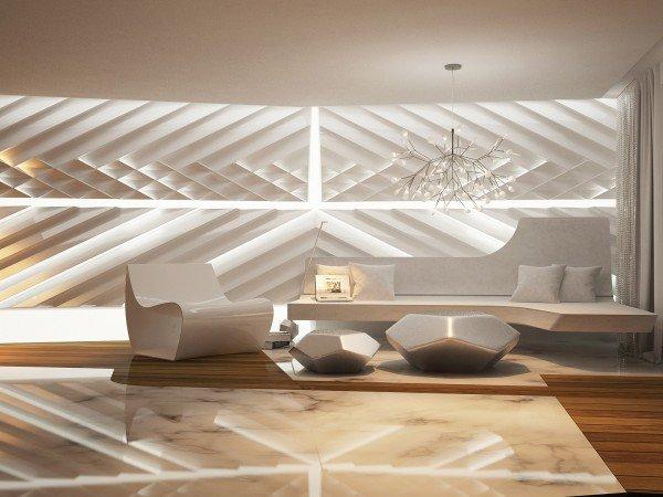 design futuriste salon