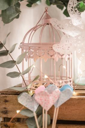 Cage d'oiseaux objet deco romantique