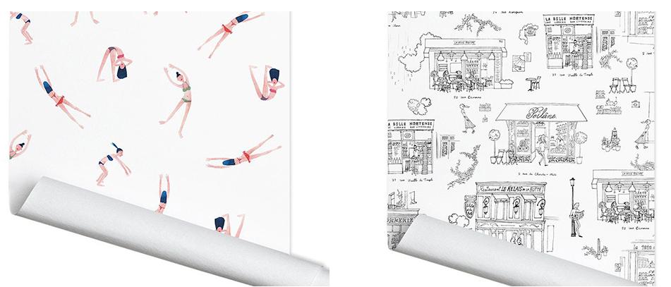 papermint x my little paris des papiers peint girly pour votre int rieur blog d co id es. Black Bedroom Furniture Sets. Home Design Ideas