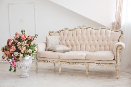 sofa déco romantique