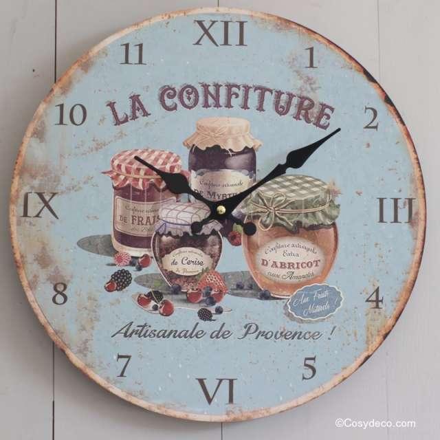 horloge murale cuisine rétro