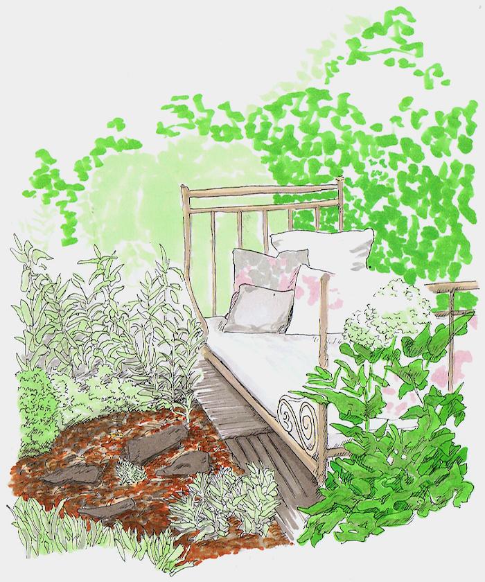 banc jardin cosy