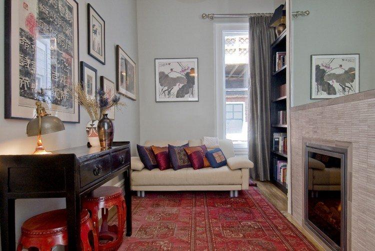 tapis oriental rouge