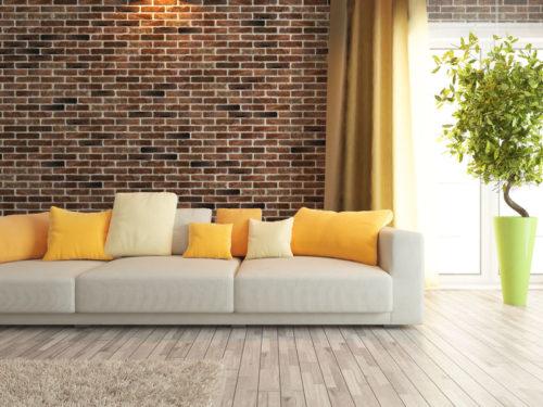 comment d corer l 39 int rieur de sa maison avec un mur de brique. Black Bedroom Furniture Sets. Home Design Ideas