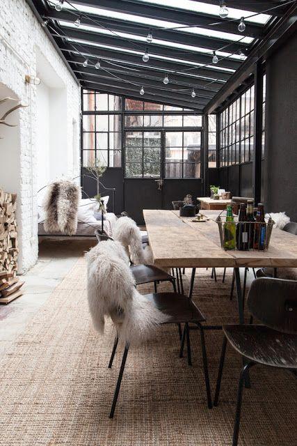 table de jardin hiver
