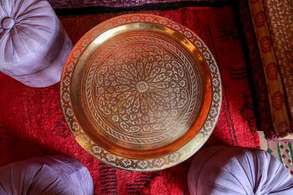 pouf coloré marocain