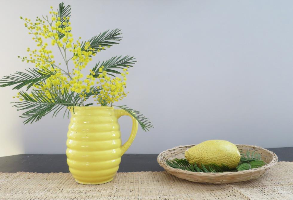 déco fleur mimosa