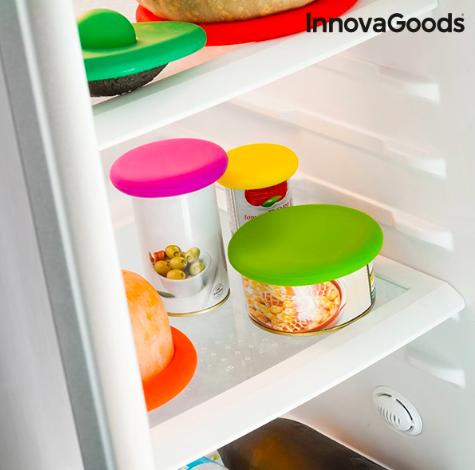 Set de Couvercles en Silicone pour Aliments InnovaGoods (6 Pièces)