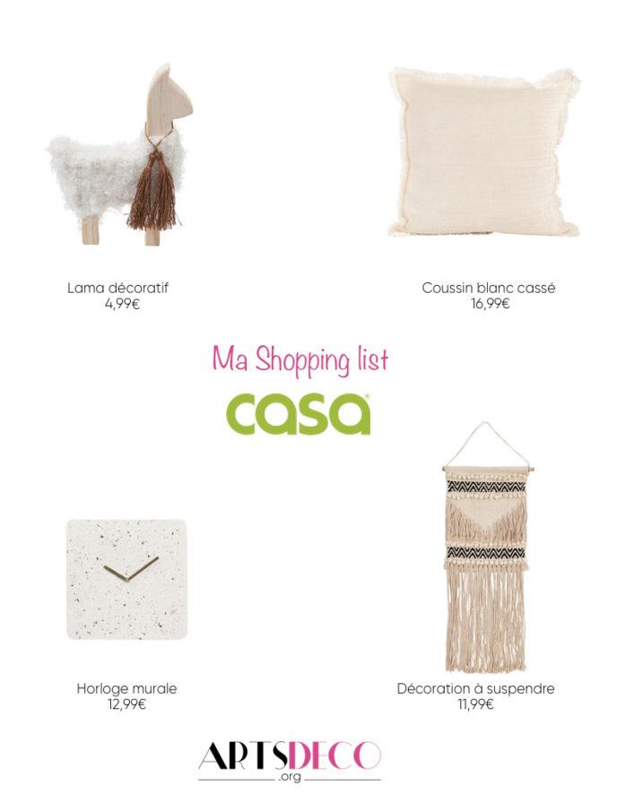 shopping list Casa