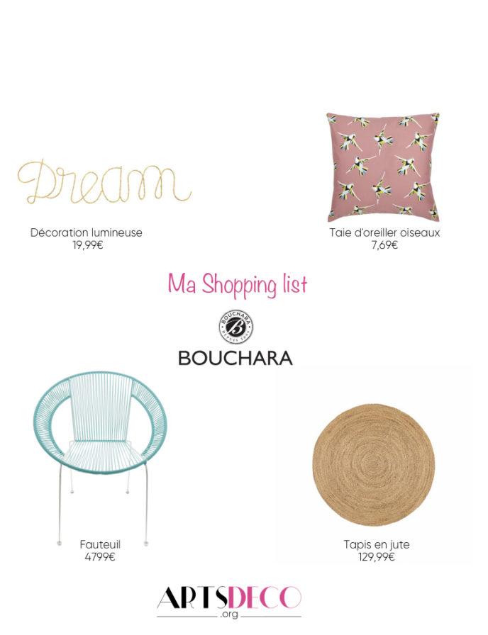 shopping list Bouchara