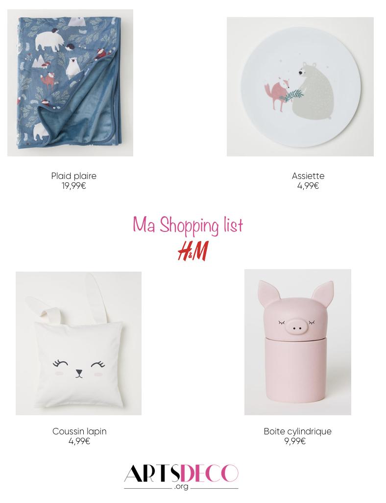 shopping list H&M