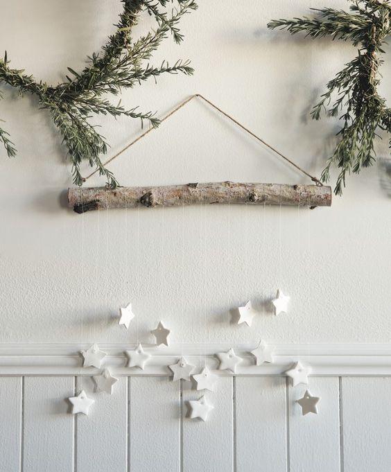 decoration de noel etoile papier