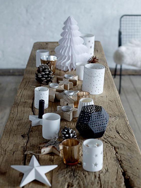 Je veux une déco de table de Noël scandinave !