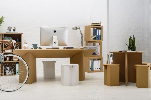 Meubles en papier et carton: un mobilier résistant, économique et écologique