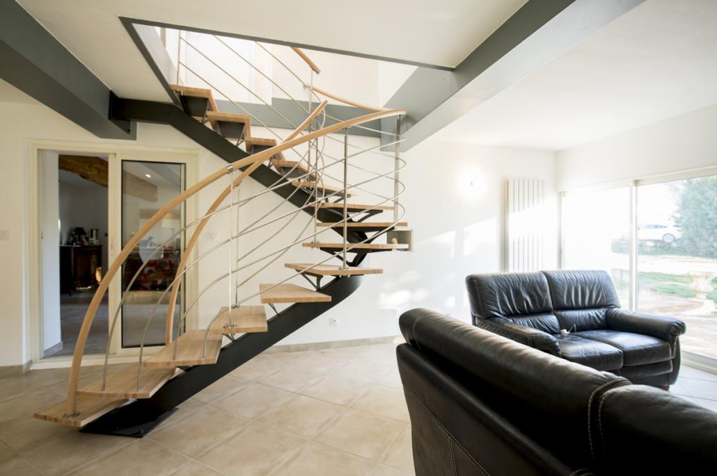 Un escalier double quart tournant pour votre entrée ou salon