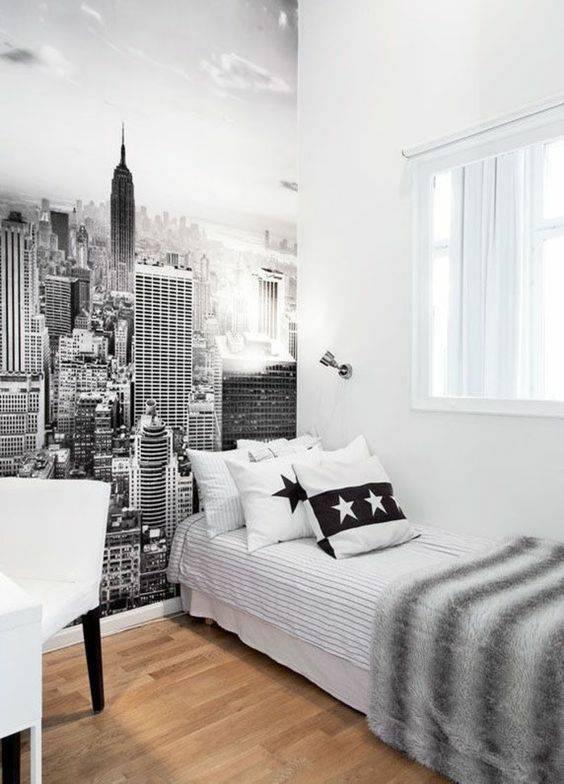 chambre déco new york